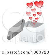 Royalty Free Vector Clip Art Illustration Of A 3d Box With Hearts by Andrei Marincas