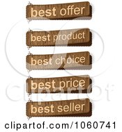 Royalty Free Vector Clip Art Illustration Of A Digital Collage Of Wooden Sales Banners
