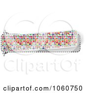 Royalty Free Vector Clip Art Illustration Of A Banner Made Of World Flags by Andrei Marincas
