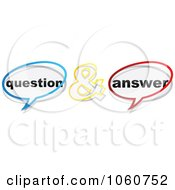 Royalty Free Vector Clip Art Illustration Of A Digital Collage Of Question And Answer Chat Balloons by Andrei Marincas