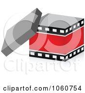 Royalty Free Vector Clip Art Illustration Of An Open 3d Film Strip Box by Andrei Marincas
