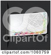 Royalty Free Vector Clip Art Illustration Of A Scrtached Tab Over Carbon Fiber