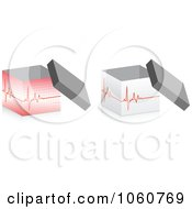 Royalty Free Vector Clip Art Illustration Of A Digital Collage Of 3d Medical Heart Beat Boxes