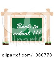 Royalty Free Vector Clip Art Illustration Of A Back To School Chalkboard Sign Suspended From Posts by Andrei Marincas