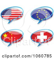 Royalty Free Vector Clip Art Illustration Of A Digital Collage Of Chat Flag Icons by Andrei Marincas