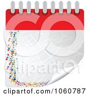 Royalty-Free Vector Clip Art Illustration of a Turning Notepad Page With Scratches by Andrei Marincas