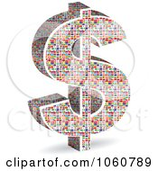 Royalty Free Vector Clip Art Illustration Of A 3d Dollar Symbol Made Of World Flags by Andrei Marincas