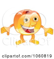 Royalty Free Vector Clip Art Illustration Of A Peach Character