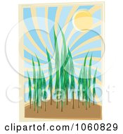 Royalty Free Vector Clip Art Illustration Of A Forest During The Day by mheld