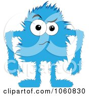 Royalty Free Vector Clip Art Illustration Of A Hairy Blue Monster