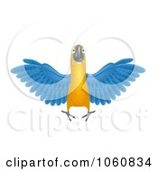 Royalty Free Vector Clip Art Illustration Of A Flying Macaw Parrot
