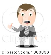 Royalty Free Vector Clip Art Illustration Of A Business Guy Holding A Thumb Up