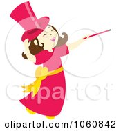 Royalty Free Vector Clip Art Illustration Of A Magician Girl With A Wand by Cherie Reve