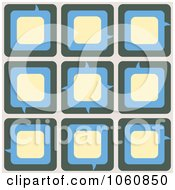 Royalty Free Vector Clip Art Illustration Of A Blue Beige And Yellow Chat Box Background by Cherie Reve