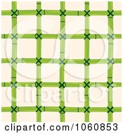 Royalty Free Vector Clip Art Illustration Of A Bamboo Pattern Over Beige