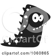 Royalty Free Vector Clip Art Illustration Of A Black And White Monster 5 by yayayoyo