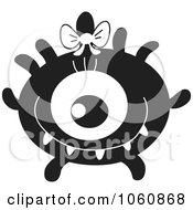 Royalty Free Vector Clip Art Illustration Of A Black And White Monster 6 by yayayoyo