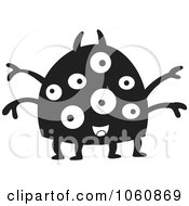 Royalty Free Vector Clip Art Illustration Of A Black And White Monster 2 by yayayoyo