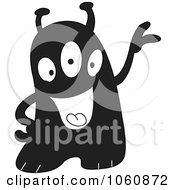 Royalty Free Vector Clip Art Illustration Of A Black And White Monster 1 by yayayoyo
