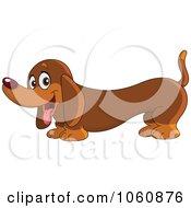 Royalty Free Vector Clip Art Illustration Of A Cute Dachshund Dog by yayayoyo #COLLC1060876-0157