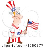 Royalty Free Vector Clip Art Illustration Of A Patriotic American Man