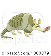 Cute Green Armadillo