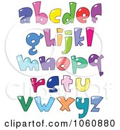 Royalty Free Vector Clip Art Illustration Of A Digital Collage Of Bubble Letters Lowercase