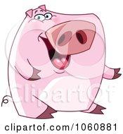 Royalty Free Vector Clip Art Illustration Of A Presenting Pig by yayayoyo