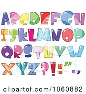 Royalty Free Vector Clip Art Illustration Of A Digital Collage Of Bubble Letters Capital