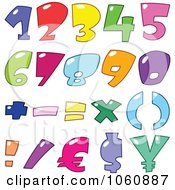Royalty Free Vector Clip Art Illustration Of A Digital Collage Of Bubble Numbers And Currency Symbols