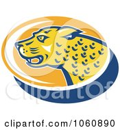Royalty Free Vector Clip Art Illustration Of A Jaguar Head In Profile 2 by patrimonio