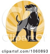 Royalty Free Vector Clip Art Illustration Of A Pointer Dog Logo 1 by patrimonio