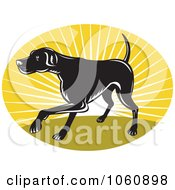 Royalty Free Vector Clip Art Illustration Of A Pointer Dog Logo 2 by patrimonio