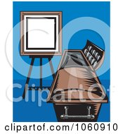 Royalty Free Vector Clip Art Illustration Of A Funeral Coffin And Sign by patrimonio