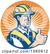 Construction Worker Holding A Thumb Up
