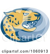 Royalty Free Vector Clip Art Illustration Of A Jaguar Head In Profile 1 by patrimonio