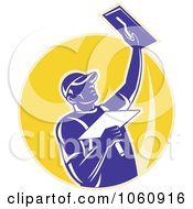 Royalty Free Vector Clip Art Illustration Of A Plasterer 3 by patrimonio #COLLC1060916-0113