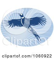 Royalty Free Vector Clip Art Illustration Of A Pheasant Flying