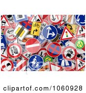 Royalty Free Vector Clip Art Illustration Of A Background Of Traffic Signs 2
