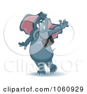 Royalty Free Vector Clip Art Illustration Of A Friendly Photographer Elephant Waving