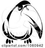 Royalty Free Vector Clip Art Illustration Of A Black And White Toucan by Seamartini Graphics