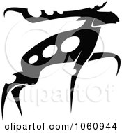 Royalty Free Vector Clip Art Illustration Of A Black And White Moose 4 by Vector Tradition SM