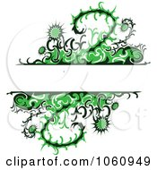 Royalty Free Vector Clip Art Illustration Of A Background Of Green Thistle Vines And Flowers With Copy Space by Vector Tradition SM