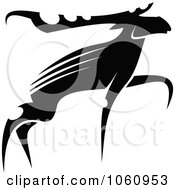 Royalty Free Vector Clip Art Illustration Of A Black And White Moose 2 by Vector Tradition SM