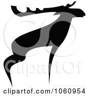 Royalty Free Vector Clip Art Illustration Of A Black And White Moose 1 by Vector Tradition SM