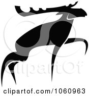 Royalty Free Vector Clip Art Illustration Of A Black And White Moose 3 by Vector Tradition SM