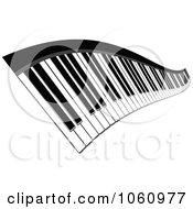 Royalty Free Vector Clip Art Illustration Of A Wavy Keyboard