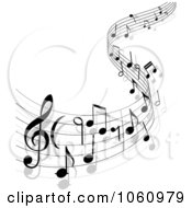 Royalty Free Vector Clip Art Illustration Of A Background Of Staff And Music Notes 13 by Vector Tradition SM #COLLC1060979-0169