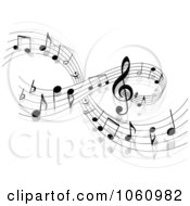 Royalty Free Vector Clip Art Illustration Of A Background Of Staff And Music Notes 2
