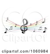 Royalty Free Vector Clip Art Illustration Of A Stave And Music Notes 3 by Vector Tradition SM